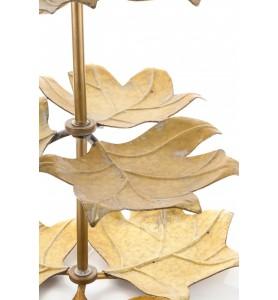 Etażera liście MEISA trzy poziomy- złota Aluro