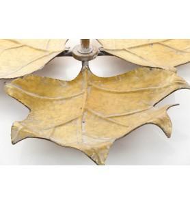 Etażera liście  MEISA dwa poziomy-złota Aluro