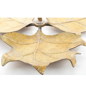Etażera liście MEISA jeden poziom -złota Aluro
