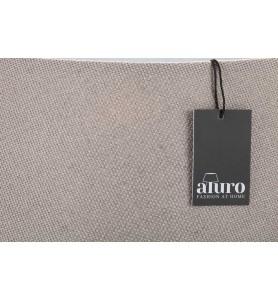 Abażur z tkaniny taupe Aluro L