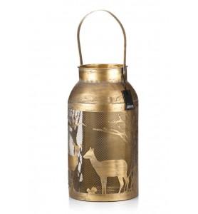 Latarnia metal. TIMBA złota XL Aluro