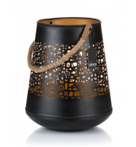 Lampion LISON czarno-złoty ażurowy L Aluro