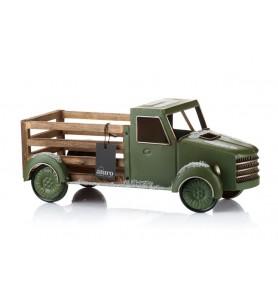 Samochód świąteczny zielony L Aluro