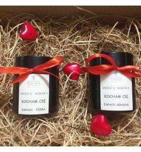 Zestaw Zapachowe Świece Sojowe dla Zakochanych