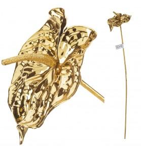 Roślina sztuczna - anturium złote Aluro