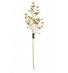 Roślina sztuczna -głązka z kulkami złota Aluro
