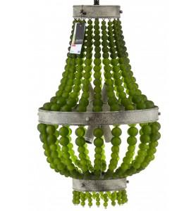 Żyrandol pałacowy TRESOR Aluro green balls