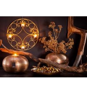 Świecznik wiszący FIELD złoty - L Aluro