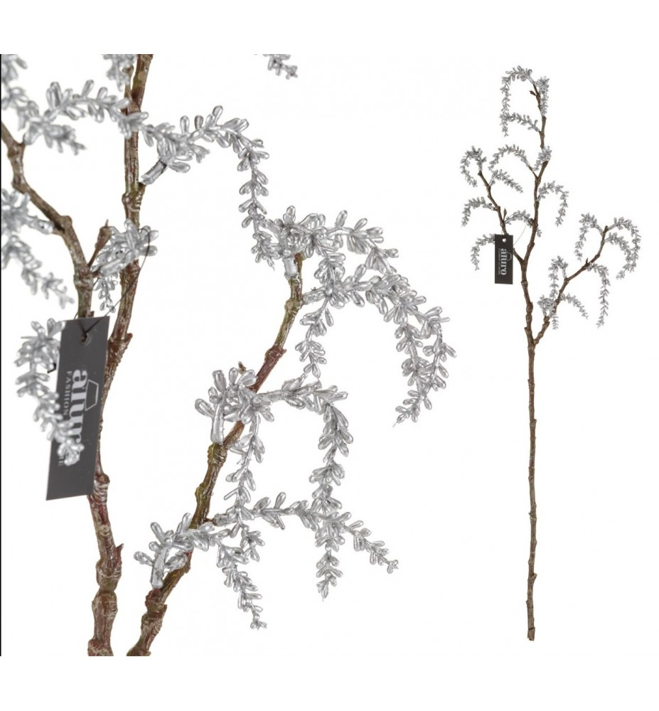 Roślina sztuczna -wierzba płacząca srebrna Aluro