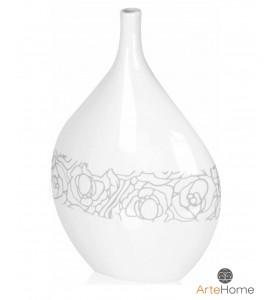 Biały wazon dekoracyjny 35 cm