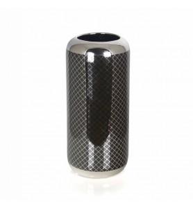 Srebrno-czarny wazon