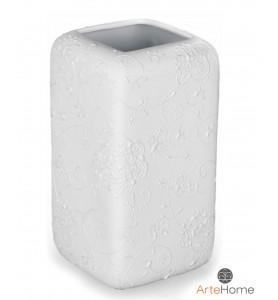 WAZON biały kwadratowy 24 cm