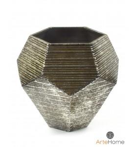 Wazon dekoracyjny metaloplastyka pięciobok 31 cm