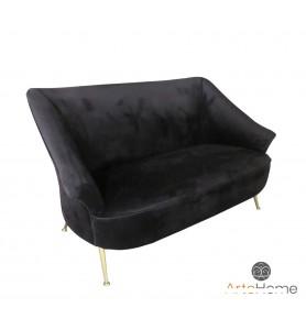 Sofa Marguesa Black Velvet