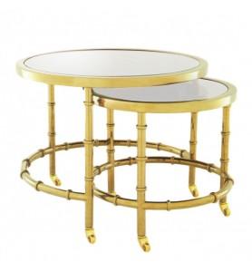 Stoliczki Galio Gold Clear Glass zestaw