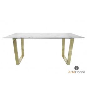 Stół jadalniany Ekskluzywny Madera 180x90 gold/white