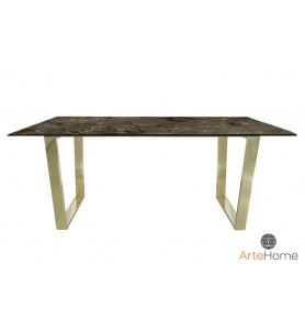 Stół jadalniany Ekskluzywny Madera 180x90 gold/brown