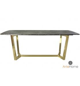Stół jadalniany Ekskluzywny Roseta gold/brown 200x100