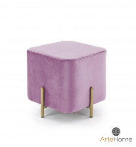 Pufka Ekskluzywna Cube gold/pink