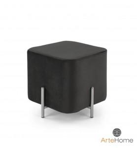 Pufka Ekskluzywna Cube silver/black